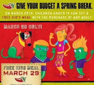 Kids Eat Free March 29