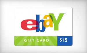 $7 for $15 Ebay Giftcard
