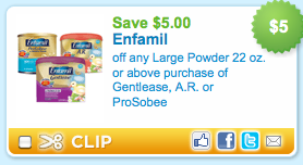 Enfamil $5 Printable Coupon