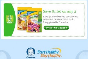 Gerber Facebook Coupon 4/25/11