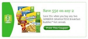 Gerber Hot Cereal Facebook Coupon 4/27