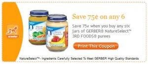 Gerber printable Facebook coupon