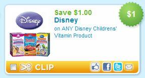 Disney Children's Vitamins Printable Coupon
