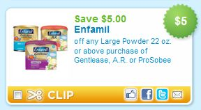 $5 Off Enfamil Printable Coupon