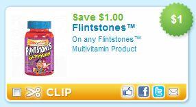Flinstone Gummy Multivitamin Printable Coupon