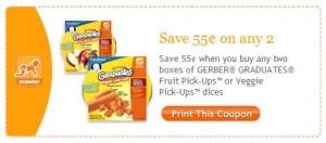 Gerber Graduates Fruit and Veggie Pick-Ups Coupon