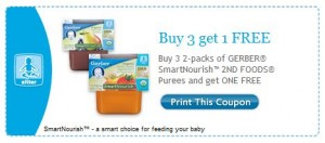 Gerber SmartNourish Printable Coupon Buy 3 Get 1 Free