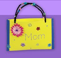 Lakeshore Free Mother's Day purse craft