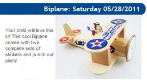 Lowe's Build and Grow Clinic Biplane 5/28