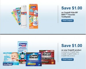 Orajel Kids, Toddler and Baby Toothpaste Printable Coupons