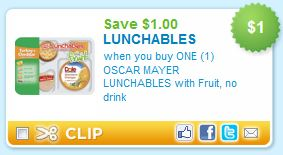 Oscar Mayer Lunchables Printable Coupon