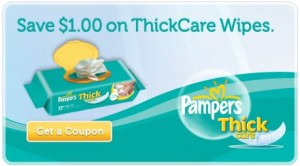 Pampers Thick Care Wipes Printable Coupon