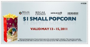 Regal Cinema $1 Popcorn Printable Coupon