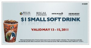 Regal Cinema $1 Soda Printable Coupon