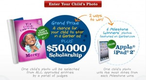 The Gerber Generation $50,000 Scholarship Child Photo Contest