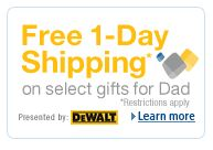 Amazon Gifts and Sweepstakes for Dad + Free 1-day Shipping!