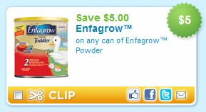 Enfagrow $5.00 Off Printable Coupon