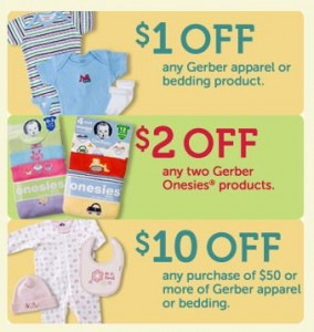Gerber Childrenswear Baby Clothes Coupons