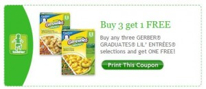 Gerber Graduates Lil' Entrees Printable Coupon