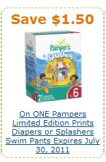 Amazon Pampers Splashers Coupon