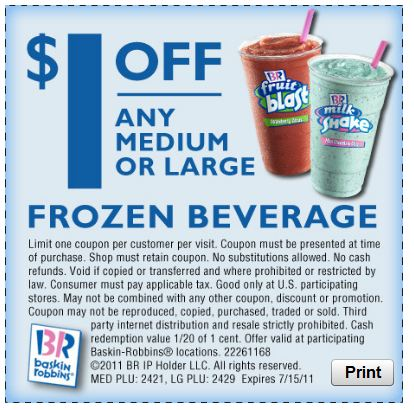 Baskin Robbins Printable Coupon
