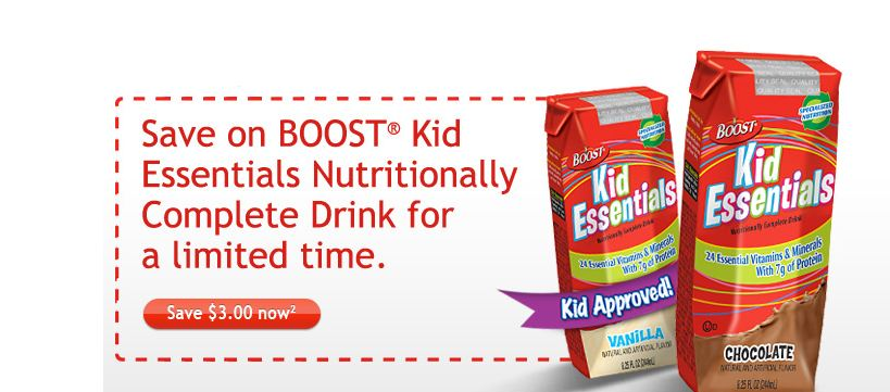 Boost Kid Essentials Coupon