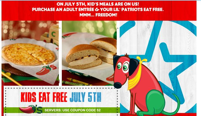 Chili's Free Kid's Meal July 5