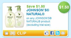 Johnson's Natural Printable Coupon