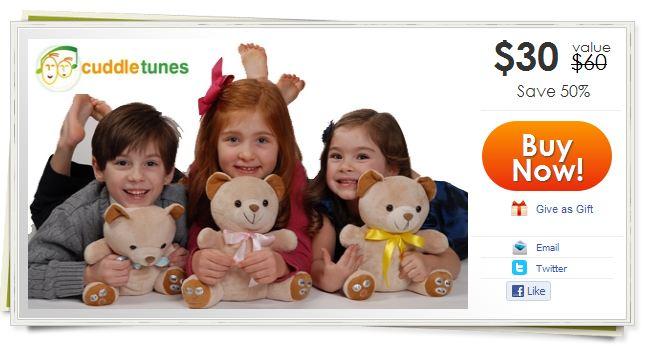 Cuddletunes Bear $30 for $60
