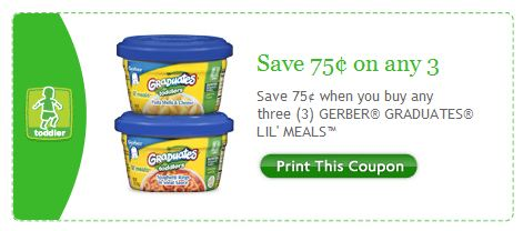 Gerber Graduates Lil Meals Facebook Printable Coupon