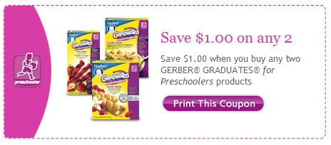 Gerber Graduates for Preschoolers Printable Coupon