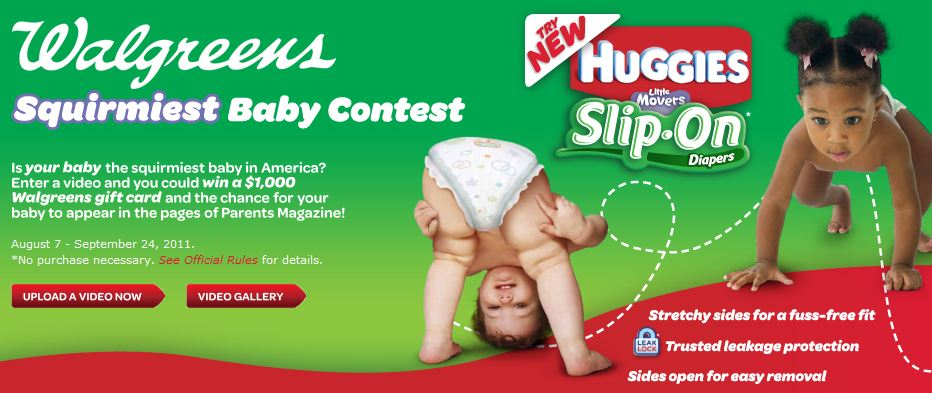 Huggies Squirmiest Baby Video Contest
