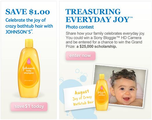 Johnson's Baby Photo Contest and Shampoo Printable Coupon