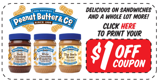 Peanut Butter & Co. Printable Facebook Coupon