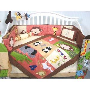 SoHo Jungle Friends 10 Piece Crib Bedding Set