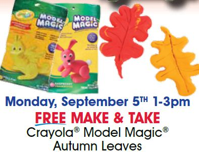 A.C. Moore Free Make & Take Autumn Leaves