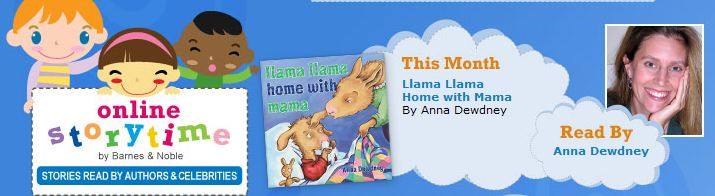 Barnes and Noble Online Story Time Llama Llama