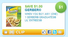 Gerber Graduates Lil Entrees Printable Coupon