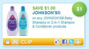 Johnson's Baby Shampoo Printable Coupon