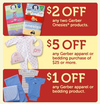 New Gerber Childrenswear apparel coupons