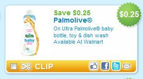 Ultra Palmolive Baby Printable Coupon