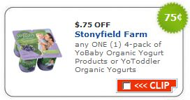 YoBaby YoToddler Organic Yogurt printable coupon