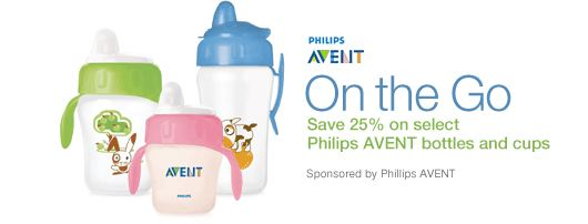 Amazon Mom AVENT Bottles and Cups 25 off promo code