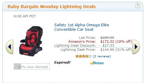 Amazon Baby Bargain Monday Lightning Deals
