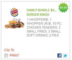 Burger King Family Bundle Coupon