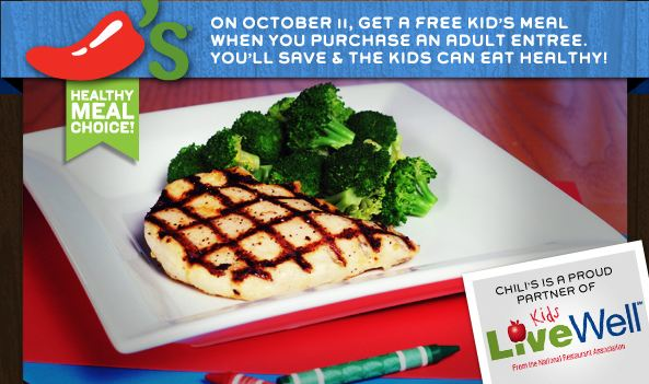 Chili's Kids Eat Free and Free Chips and Queso Coupons