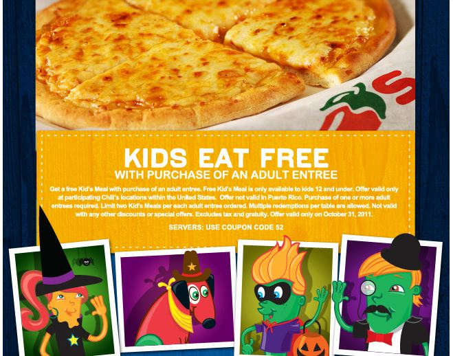 Chili's Kids Eat Free for Halloween