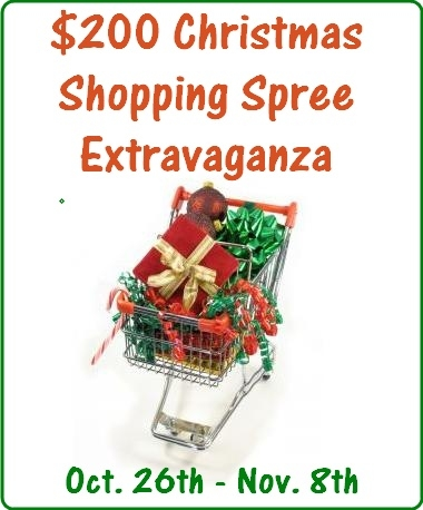Christmas Shopping Spree Extravaganza Giveaway!