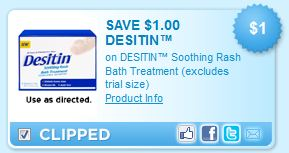 Desitin Soothing Rash Bath Treatment Printable Coupon