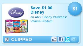 Disney Vitamin Product Printable Coupons!